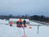 Благодарим за помощь в уборке снега с крыши ФОКа «Энергия»