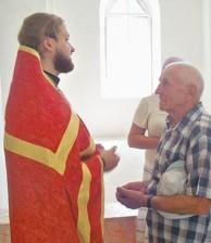 Церковное собрание прихожан в селе Кременское