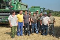Полным ходом идет уборка зерновых