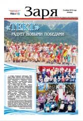Выпуск газеты «Заря» № 130-132 от 2 ноября 2018 года