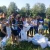 В Жуковском районе дети «Галактики» убрали мусор с берегов Протвы