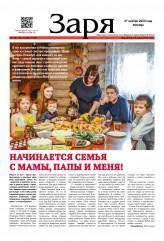 Выпуск газеты «Заря» № 139-141 от 27 ноября 2020 года