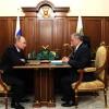 Рабочая встреча Президента России Владимира Путина с губернатором области Анатолием Артамоновым