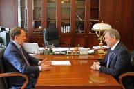 Рабочая встреча главы региона с полномочным представителем Президента Российской Федерации в Центральном федеральном округе