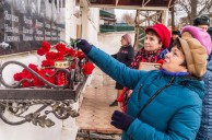Мемориальная доска с именами героев Великой Отечественной войны–сотрудников ФКУ ИК-4  установлена на здании административного корпуса